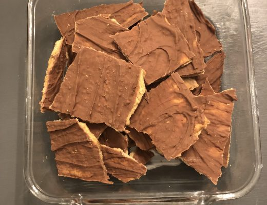 Homemade cracker candy